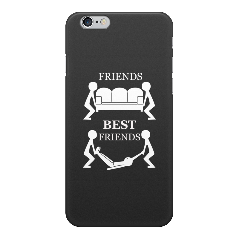 Printio Чехол для iPhone 6, объёмная печать Лучшие друзья