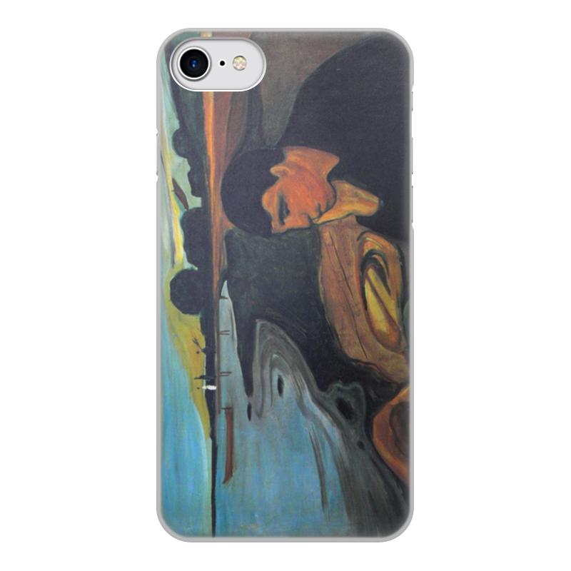 Printio Чехол для iPhone 7, объёмная печать Меланхолия (эдвард мунк) printio чехол для iphone 7 объёмная печать крик эдвард мунк