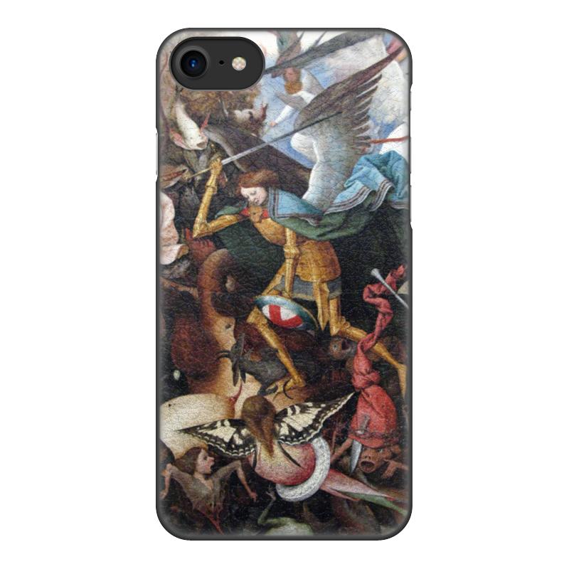 Printio Чехол для iPhone 7, объёмная печать Падение мятежных ангелов (питер брейгель)