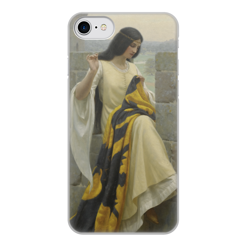 Фото - Printio Чехол для iPhone 7, объёмная печать Шитьё знамени (эдмунд блэр лейтон) printio чехол для iphone 7 plus объёмная печать сирень эдмунд блэр лейтон