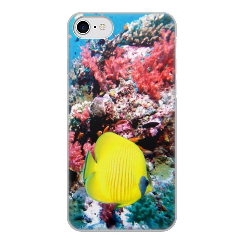 Printio Чехол для iPhone 7, объёмная печать Морской риф чехол