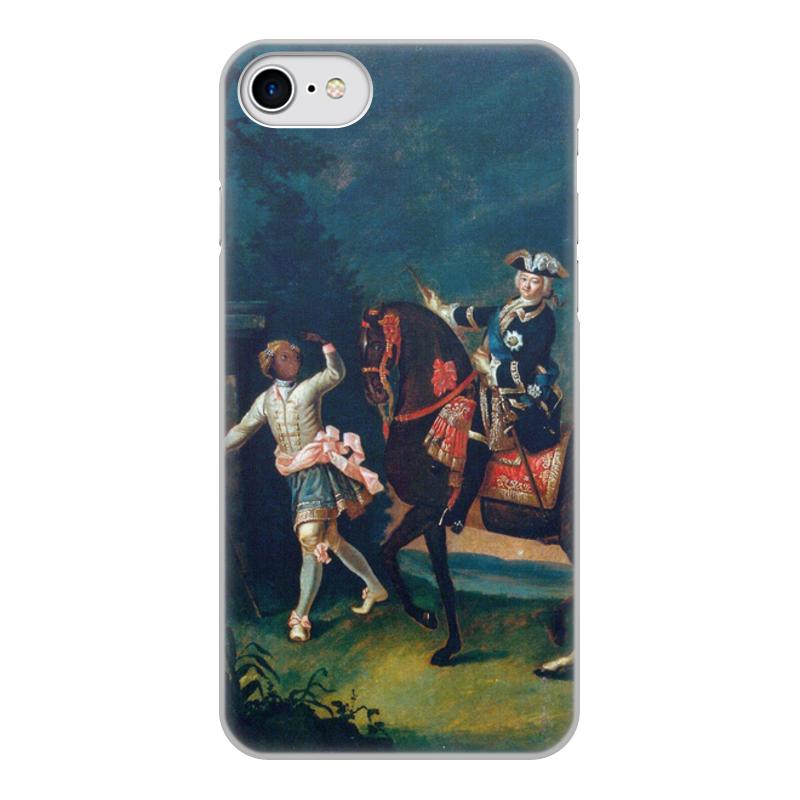 Printio Чехол для iPhone 7, объёмная печать Конный портрет елизаветы петровны с арапчонком