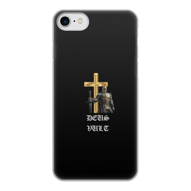 Фото - Printio Чехол для iPhone 7, объёмная печать Deus vult. крестоносцы printio чехол для samsung galaxy s8 объёмная печать deus vult крестоносцы