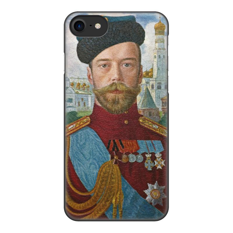 Printio Чехол для iPhone 7, объёмная печать Царь николай ii (борис кустодиев) printio чехол для iphone 5 5s объёмная печать царь николай ii борис кустодиев