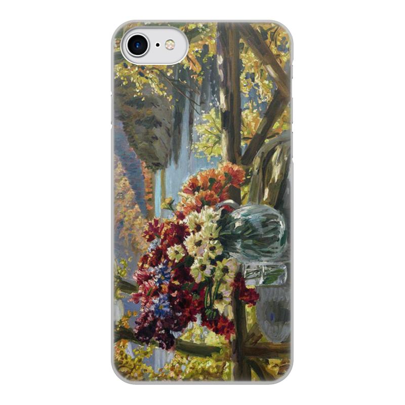 Фото - Printio Чехол для iPhone 7, объёмная печать Цветы на фоне озера (картина вещилова) printio чехол для iphone 7 plus объёмная печать цветы на фоне озера картина вещилова