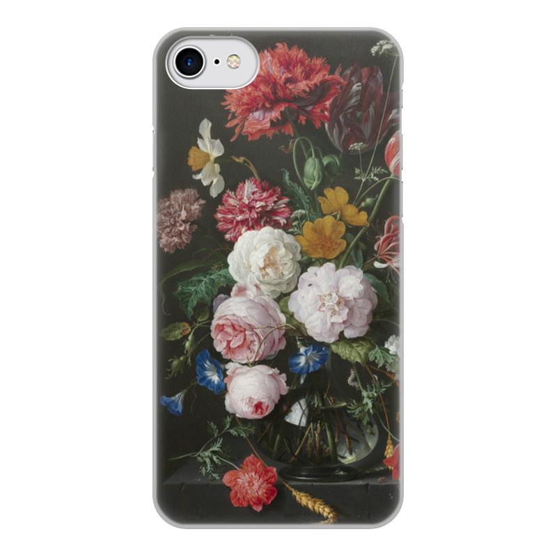 Printio Чехол для iPhone 7, объёмная печать Цветочный букет в стеклянной вазе (ян де хем)
