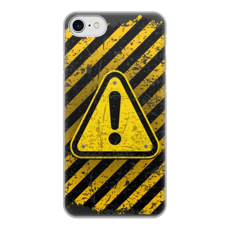 Printio Чехол для iPhone 7, объёмная печать Опасность чехол