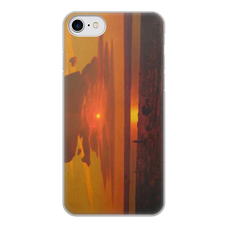 Фото - Printio Чехол для iPhone 7, объёмная печать Красный закат (картина архипа куинджи) printio тетрадь на скрепке берёзовая роща картина архипа куинджи