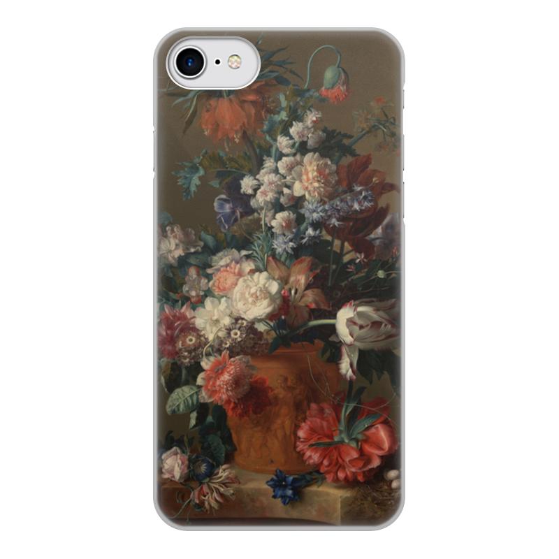 Printio Чехол для iPhone 7, объёмная печать Ваза с цветами (ян ван хёйсум) printio чехол для iphone 5 5s объёмная печать цветочный натюрморт ян ван хёйсум