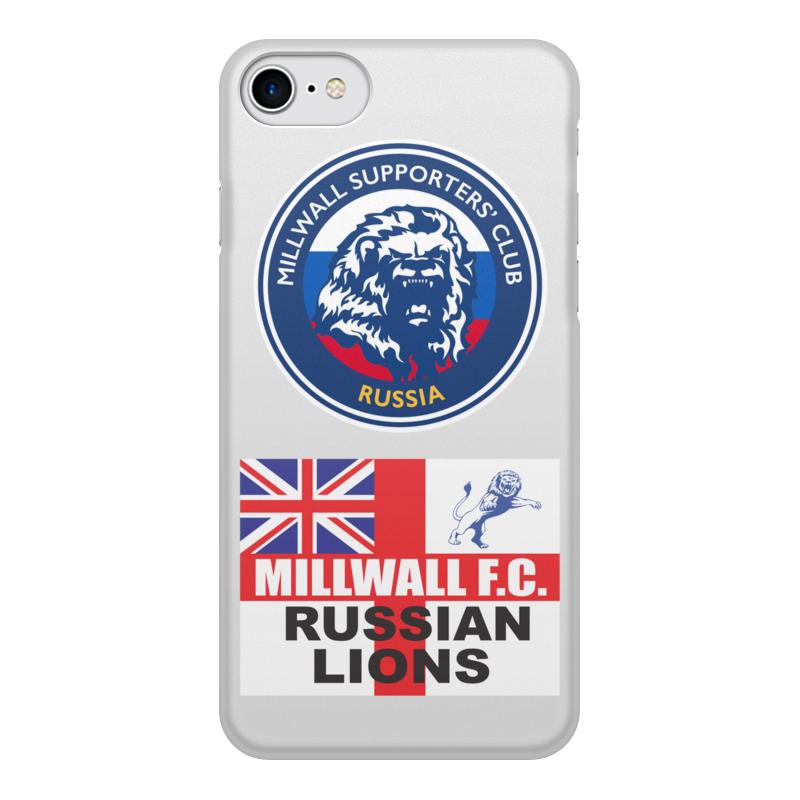 Printio Чехол для iPhone 7, объёмная печать Millwall msc russia phone cover