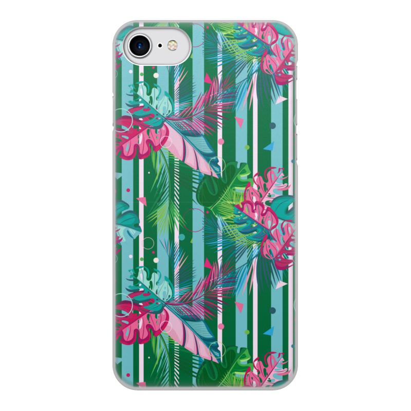 Фото - Printio Чехол для iPhone 7, объёмная печать Полосатые тропики printio подушка для шеи полосатые тропики