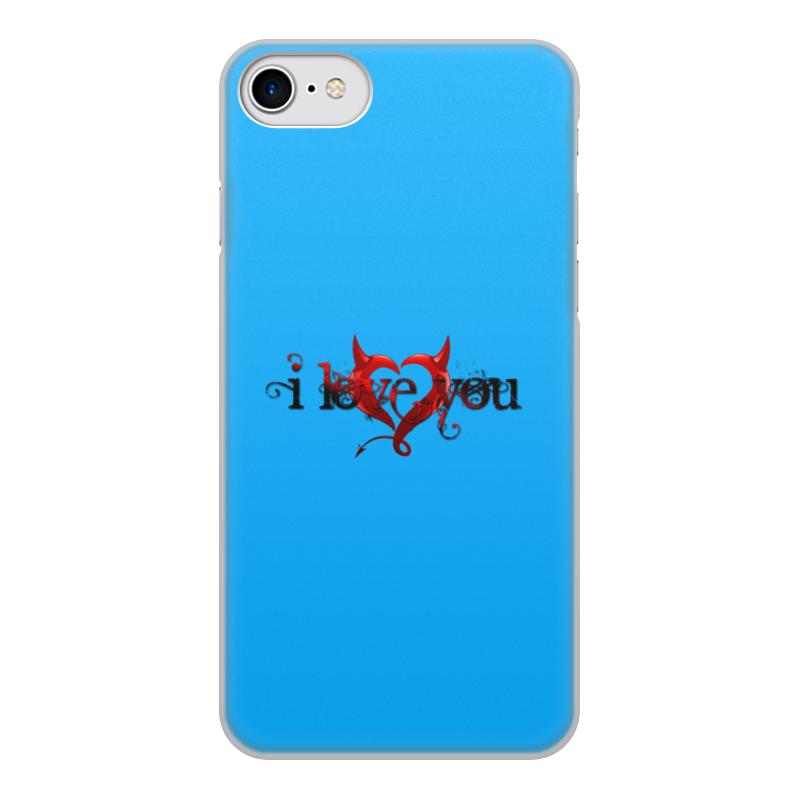 Printio Чехол для iPhone 7, объёмная печать i love you