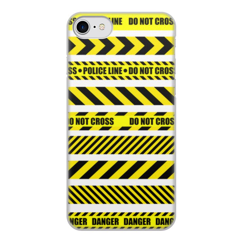 Printio Чехол для iPhone 7, объёмная печать Police line чехол