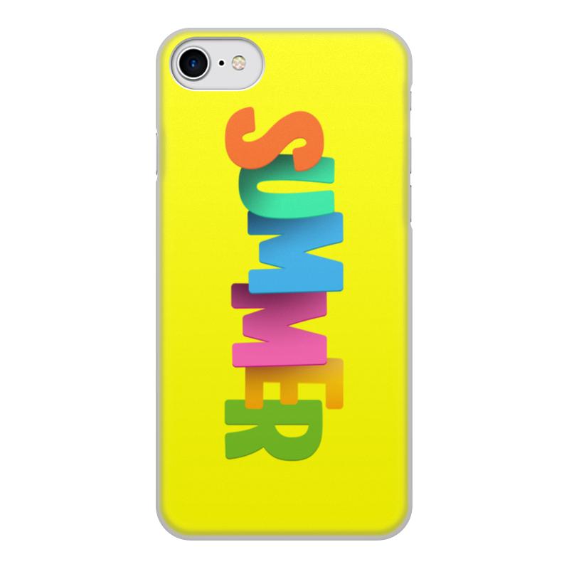 Printio Чехол для iPhone 7, объёмная печать Summer чехол