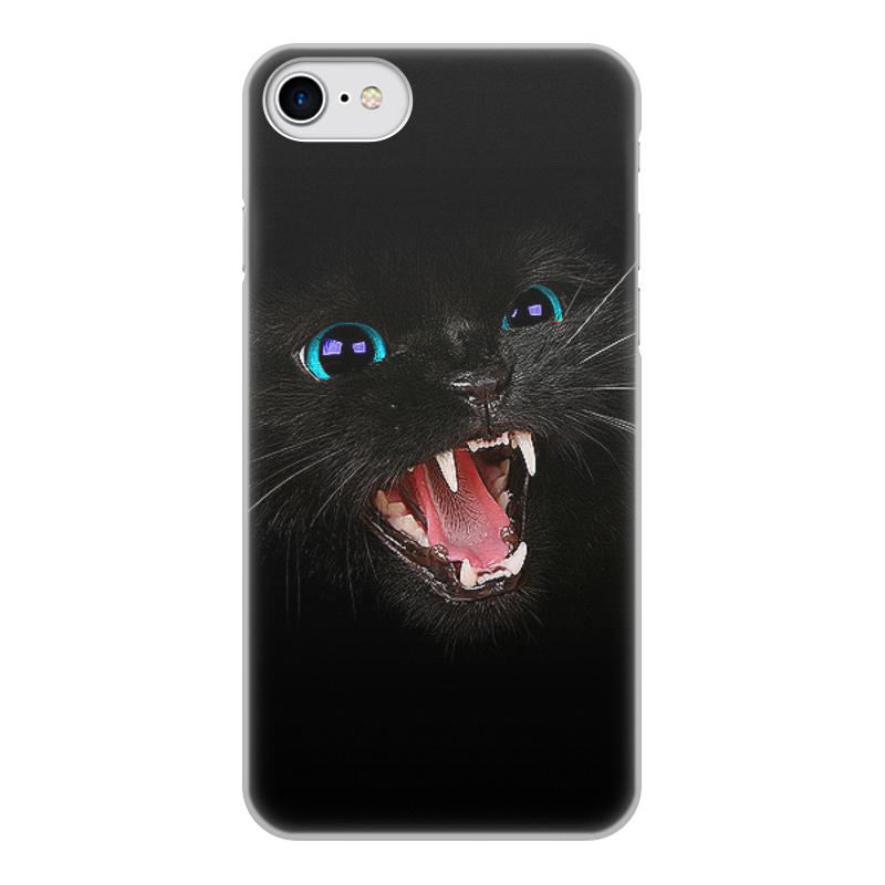 Printio Чехол для iPhone 7, объёмная печать Черная кошка чехол
