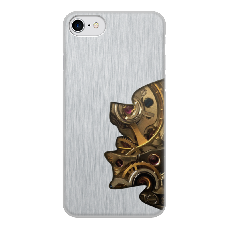 Printio Чехол для iPhone 7, объёмная печать Внутренний мир телефона (шестеренки).