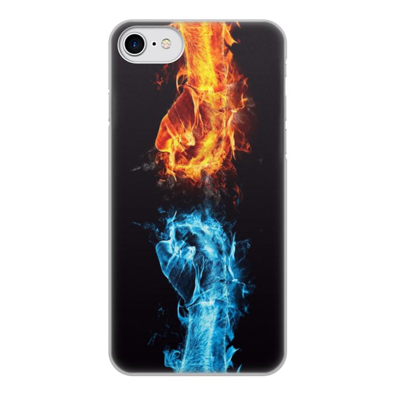 Printio Чехол для iPhone 7, объёмная печать Борьба
