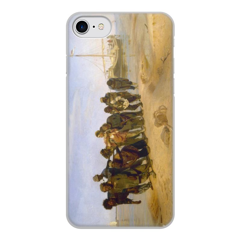Printio Чехол для iPhone 7, объёмная печать Бурлаки на волге (картина ильи репина)