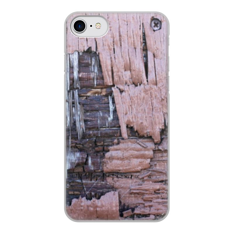 Printio Чехол для iPhone 7, объёмная печать Деревянный