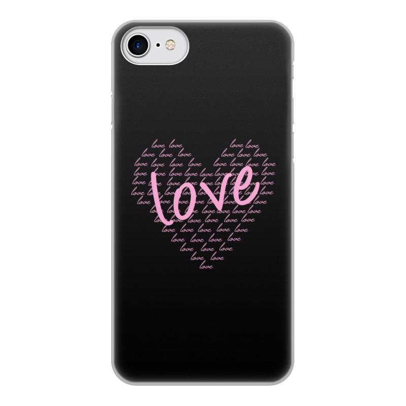 Printio Чехол для iPhone 7, объёмная печать Сердце чехол