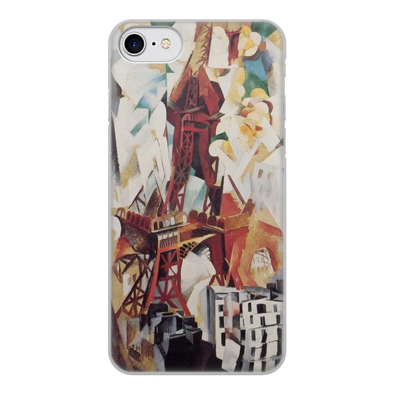Фото - Printio Чехол для iPhone 7, объёмная печать Эйфелева башня (робер делоне) printio чехол для iphone x xs объёмная печать бесконечный ритм робер делоне