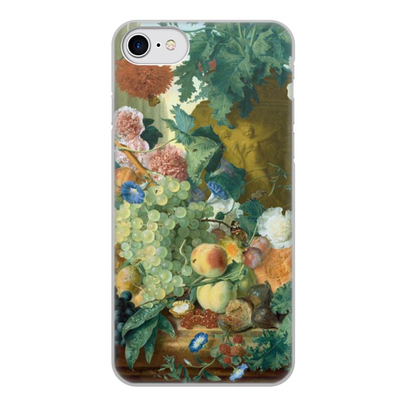 Printio Чехол для iPhone 7, объёмная печать Фрукты и цветы (ян ван хёйсум) printio чехол для iphone 5 5s объёмная печать цветочный натюрморт ян ван хёйсум