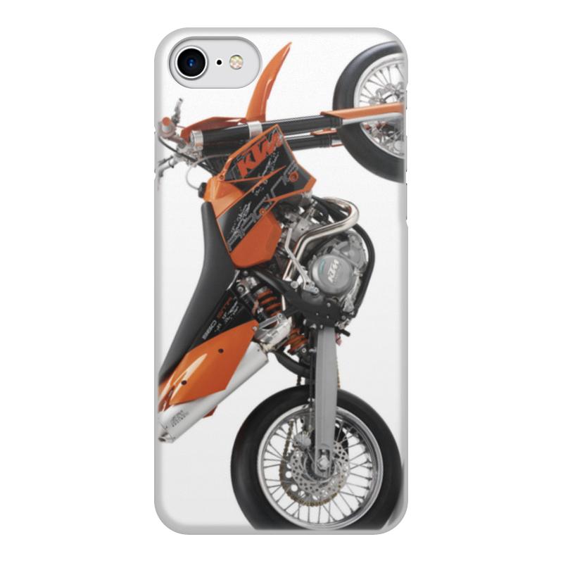 Printio Чехол для iPhone 7, объёмная печать Мото ктм
