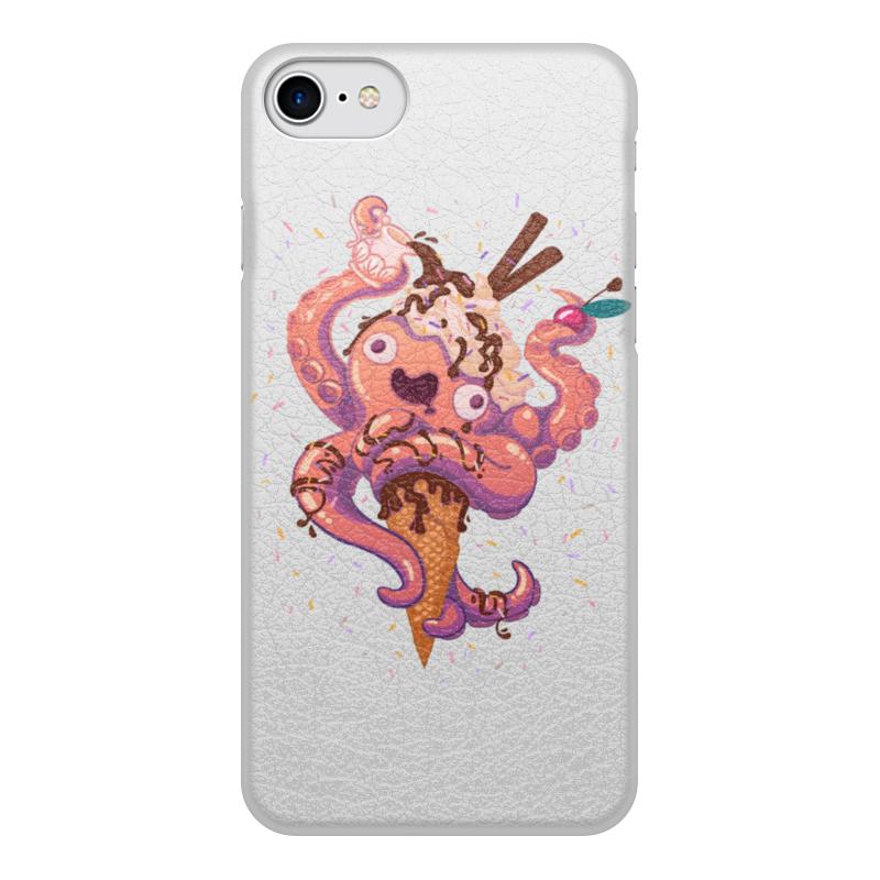 Printio Чехол для iPhone 7, объёмная печать Крик кальмара