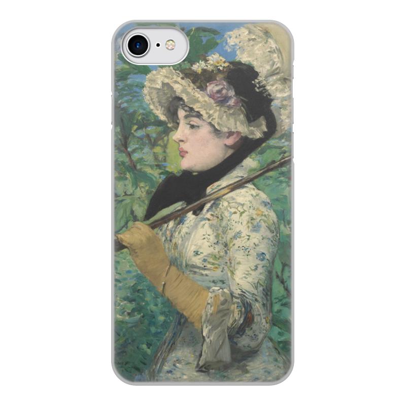 Printio Чехол для iPhone 7, объёмная печать Жанна (весна) (картина эдуарда мане)