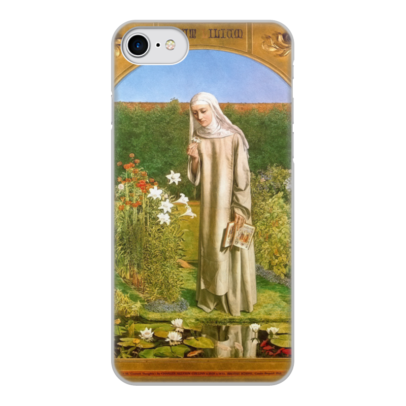 Printio Чехол для iPhone 7, объёмная печать Мысли монахини (чарльз олстон коллинз)