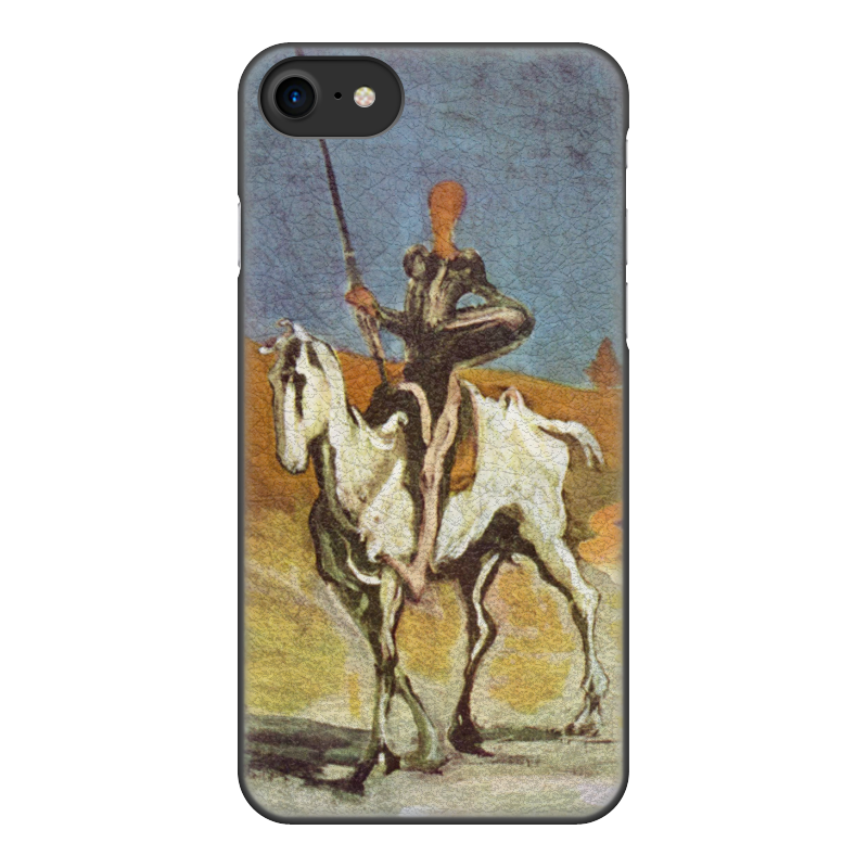Printio Чехол для iPhone 7, объёмная печать Дон кихот (картина оноре домье) printio чехол для iphone 8 plus объёмная печать дон кихот картина оноре домье