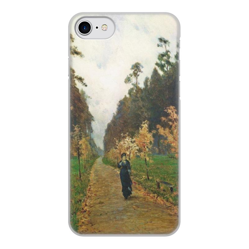 Printio Чехол для iPhone 7, объёмная печать Осенний день. сокольники (левитан)