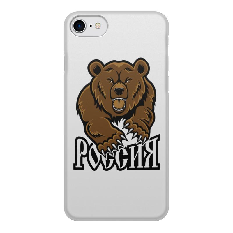 Printio Чехол для iPhone 7, объёмная печать Медведь. символика