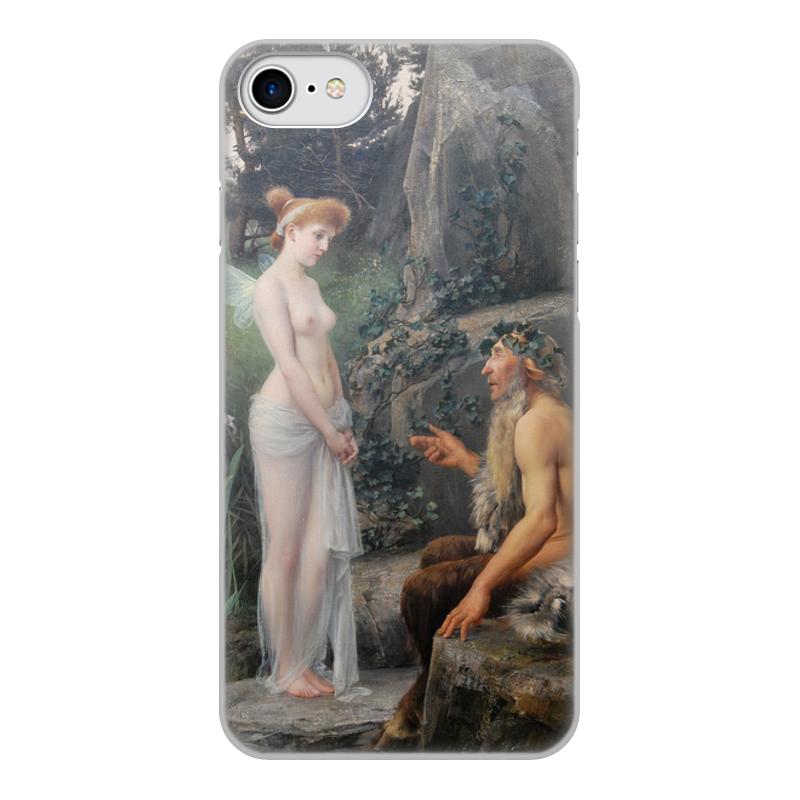 Фото - Printio Чехол для iPhone 7, объёмная печать Пан утешает психею (эрнст климт) printio чехол для iphone 7 plus объёмная печать поцелуй картина климта