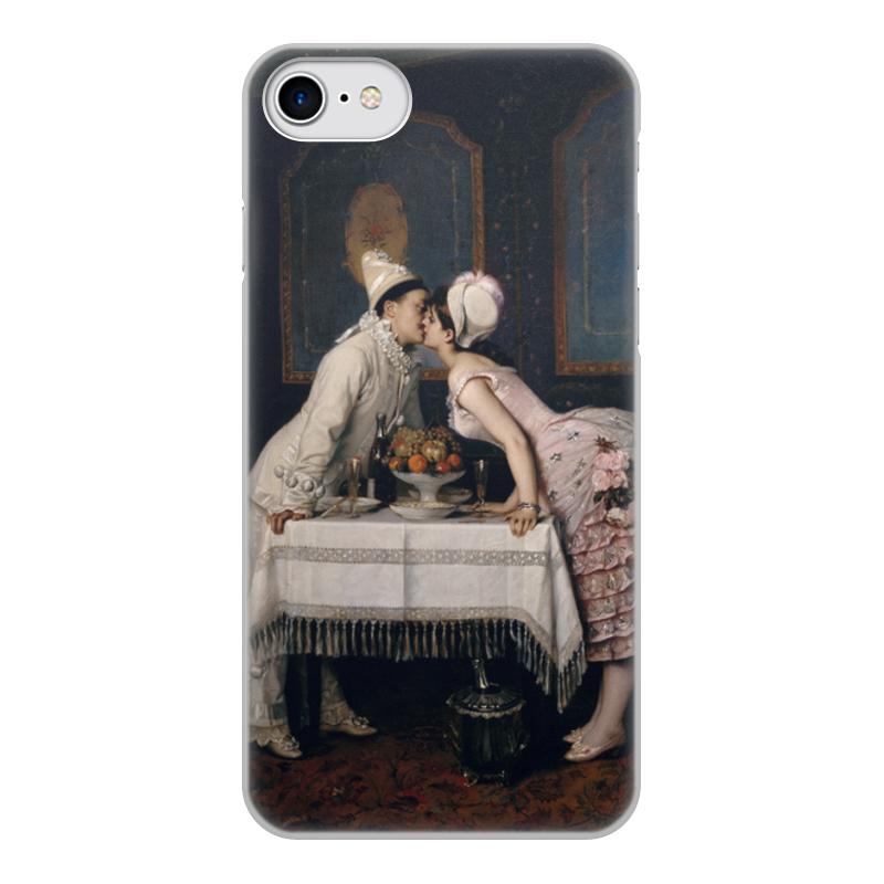 Фото - Printio Чехол для iPhone 7, объёмная печать Поцелуй (картина огюста тульмуша) printio чехол для iphone 7 plus объёмная печать поцелуй картина климта