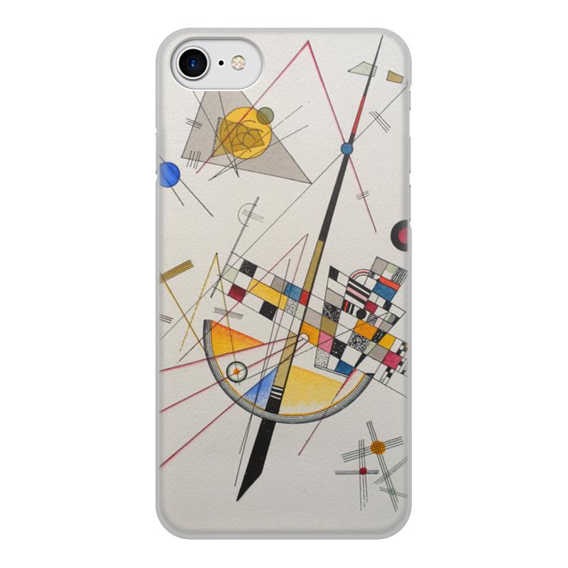 Printio Чехол для iPhone 7, объёмная печать Тонкое напряжение (василий кандинский) printio чехол для iphone 7 plus объёмная печать тонкое напряжение василий кандинский