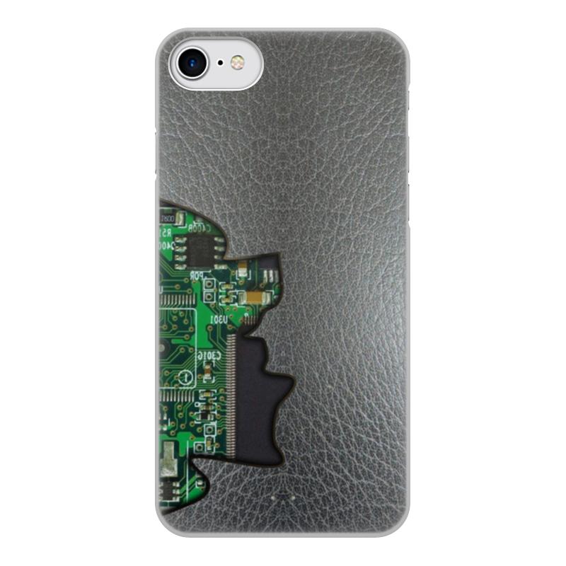Printio Чехол для iPhone 7, объёмная печать Внутренний мир телефона (микросхема).