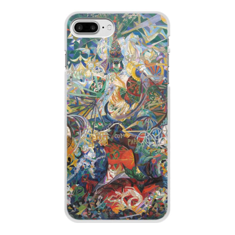 Printio Чехол для iPhone 7 Plus, объёмная печать Битва огней, кони-айленд (джозеф стелла) printio свитшот женский с полной запечаткой битва огней кони айленд джозеф стелла