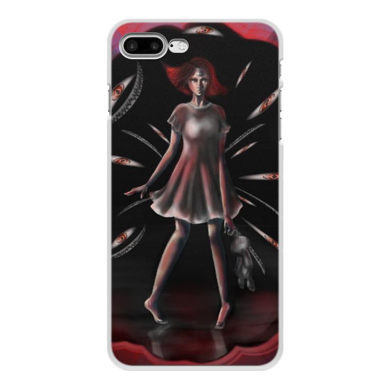 Printio Чехол для iPhone 7 Plus, объёмная печать Черное&красное