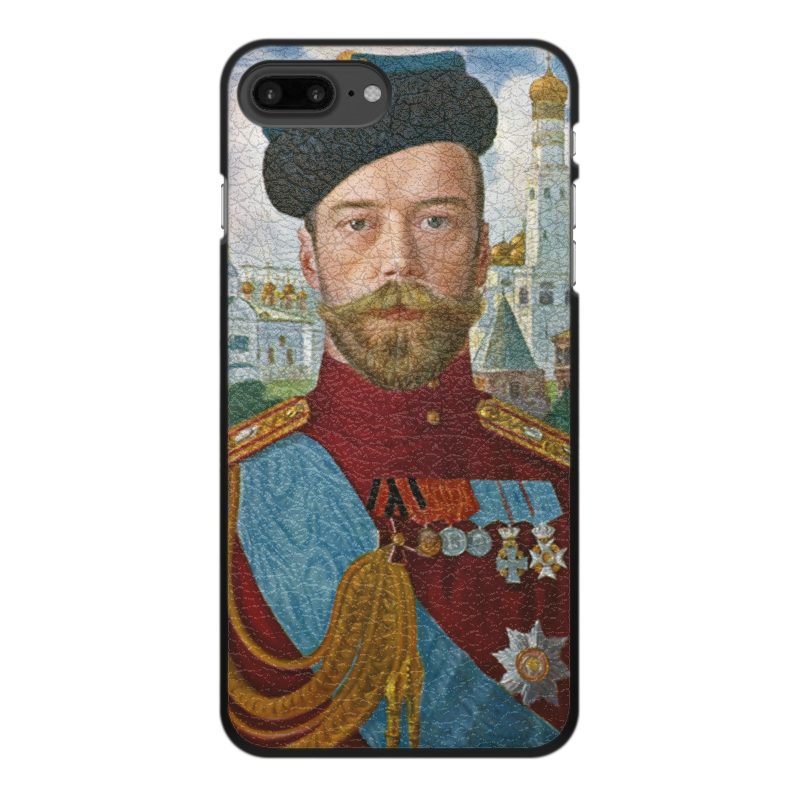 Printio Чехол для iPhone 7 Plus, объёмная печать Царь николай ii (борис кустодиев) printio чехол для iphone 5 5s объёмная печать царь николай ii борис кустодиев