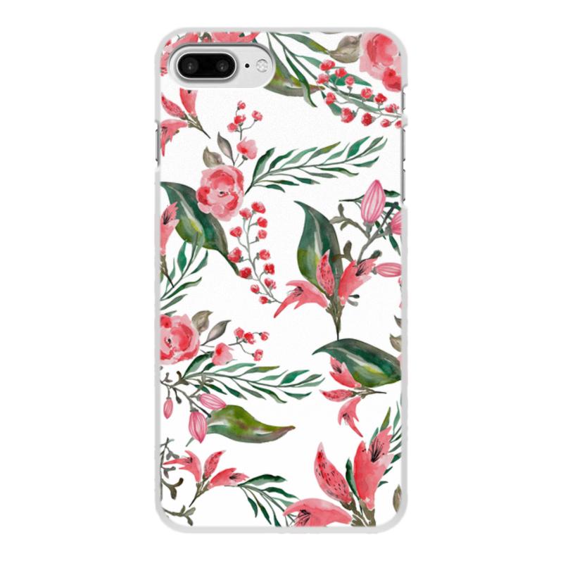 Фото - Printio Чехол для iPhone 7 Plus, объёмная печать Цветы на белом printio чехол для iphone 7 plus объёмная печать цветы на фоне озера картина вещилова