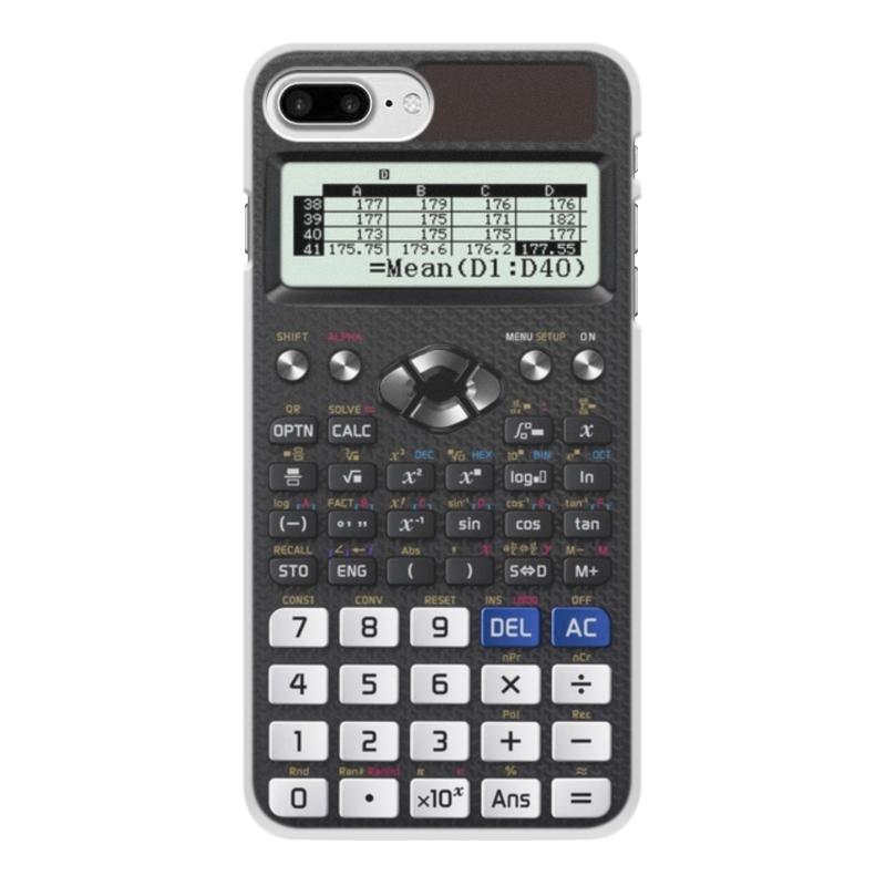 Printio Чехол для iPhone 7 Plus, объёмная печать Калькулятор инженерный