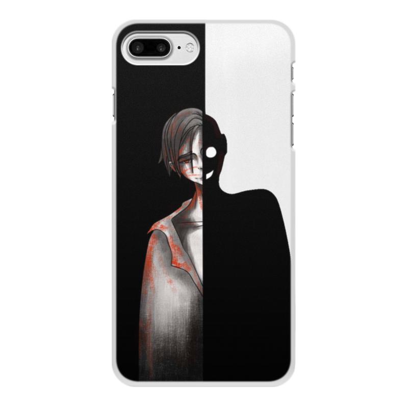 Printio Чехол для iPhone 7 Plus, объёмная печать Черное&белое