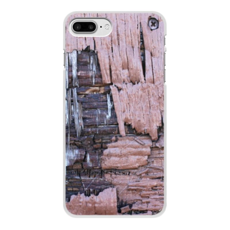 Printio Чехол для iPhone 7 Plus, объёмная печать Деревянный