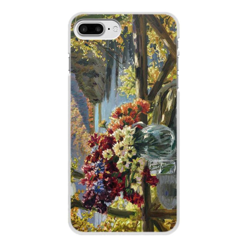 Фото - Printio Чехол для iPhone 7 Plus, объёмная печать Цветы на фоне озера (картина вещилова) printio чехол для iphone 7 plus объёмная печать цветы на фоне озера картина вещилова