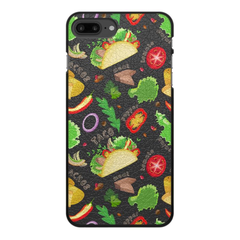 Printio Чехол для iPhone 7 Plus, объёмная печать Мексиканские такос