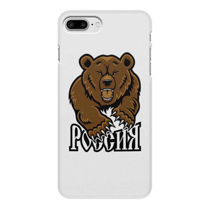 Printio Чехол для iPhone 7 Plus, объёмная печать Медведь. символика