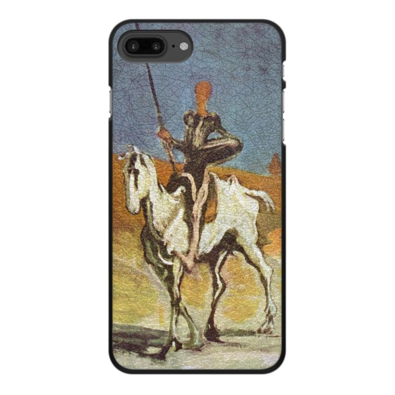 Printio Чехол для iPhone 7 Plus, объёмная печать Дон кихот (картина оноре домье) printio чехол для iphone 8 plus объёмная печать дон кихот картина оноре домье