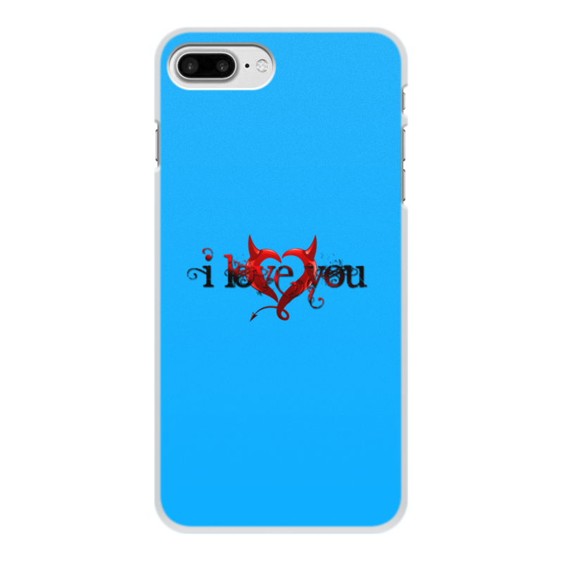 Printio Чехол для iPhone 7 Plus, объёмная печать I love you