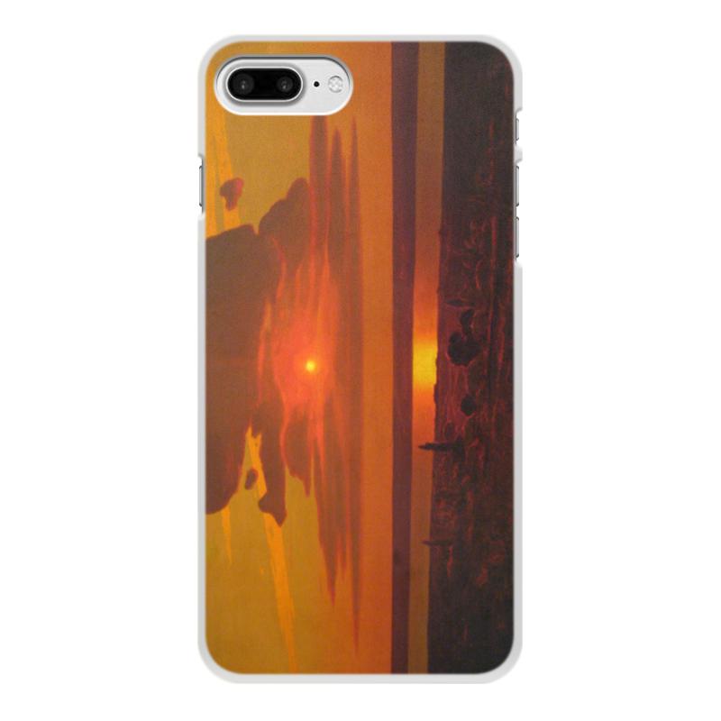 Фото - Printio Чехол для iPhone 7 Plus, объёмная печать Красный закат (картина архипа куинджи) printio тетрадь на скрепке берёзовая роща картина архипа куинджи
